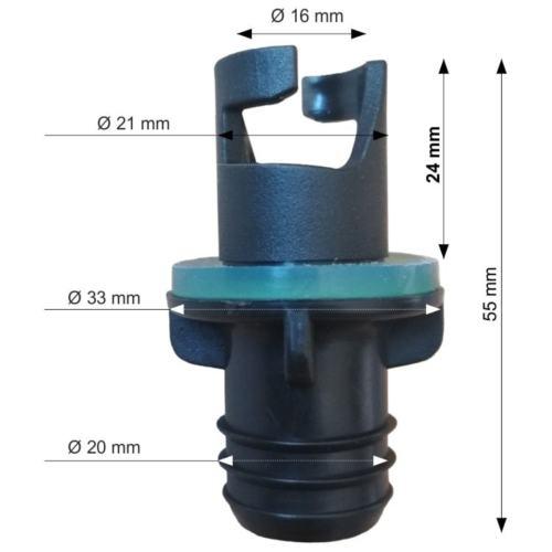Ventil Adapter für Schlauchboot Pumpe Anschlußstück ALLE ARTEN