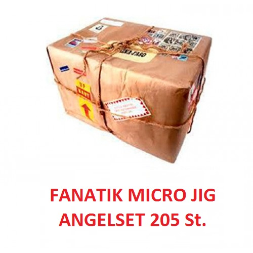 Micro Jig FANATIK 205 St. Angel-Set Universal 205 St. Gummiköder, Haken, Vorfächer, Blei, Fluoro