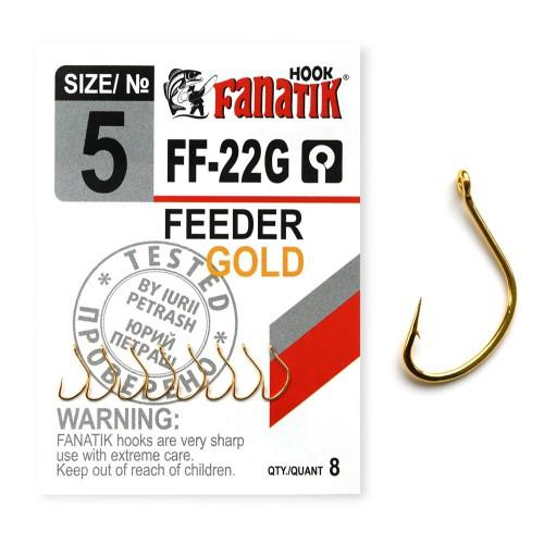 FANATIK Haken FF-22G FEEDER GOLD VHI-Carbon (9 mm - 15 mm)