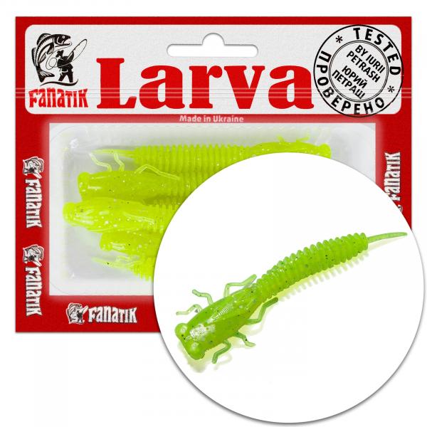 """Fanatik X-LARVA 2"""" 3"""" 4"""" 5.0 cm 7.6 cm 10.1 cm Gummiköder Gummifisch mit Aroma Jig"""