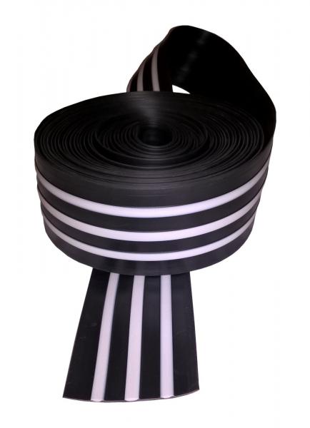 Scheuerleiste 60mm 10 Meter für Schlauchboote in Schwarz-Weiß