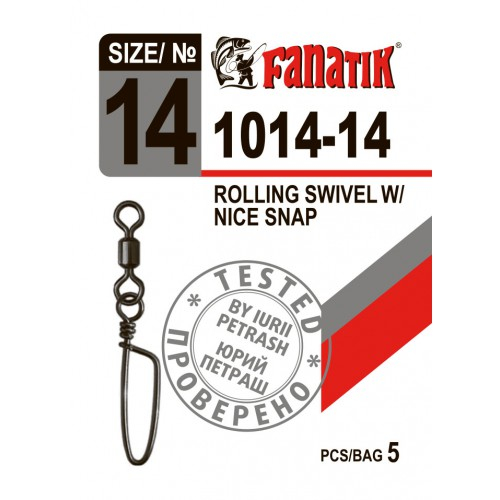 FANATIK Karabiner 1014 Angel Duo-Lock mit Wirbel Rolling Swivel with Snap 5 kg - 11 kg